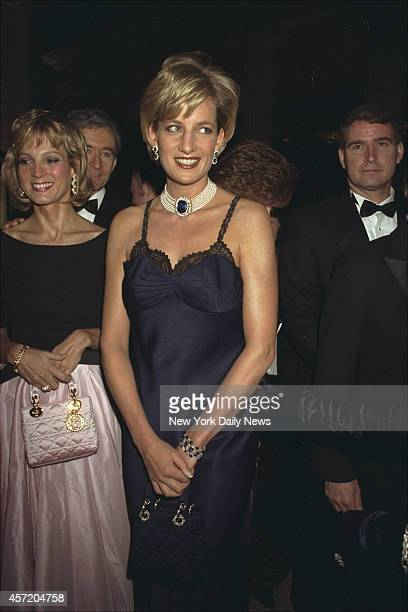 Diana Princess of Wales at Costume Institute Gala at Metropolitan Museum of Art for a benefit ball Richard Corkery/NY Daily News via Getty Images