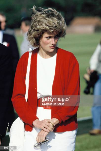 Diana Princess of Wales at Guards Polo Club in Windsor Great Park on May 29 1985 in Windsor England