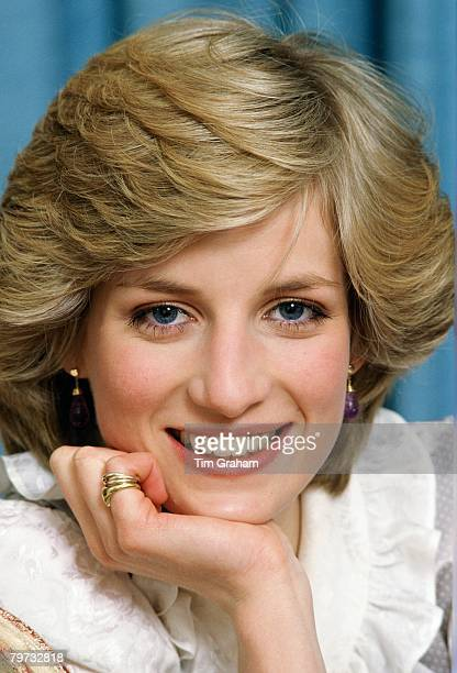 Diana Princess of Wales at her home in Kensington Palace