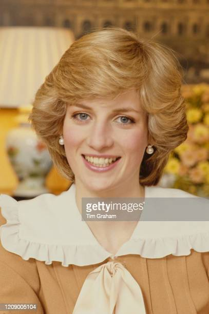 Diana Princess of Wales at home in Kensington Palace London 1st February 1983 From an exclusive photoshoot