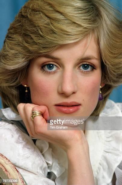 Diana Princess of Wales at home in Kensington Palace