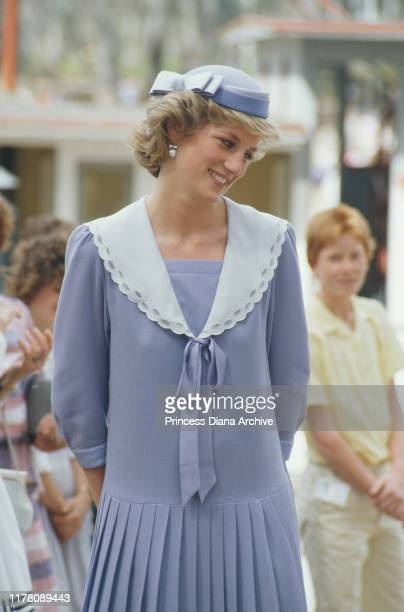 Diana, Princess of Wales at Mildura in Victoria, Australia, October 1985.