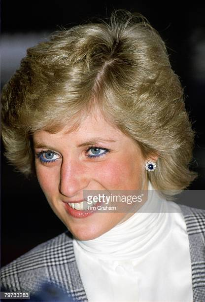 Diana Princess of Wales at Paddington Station London
