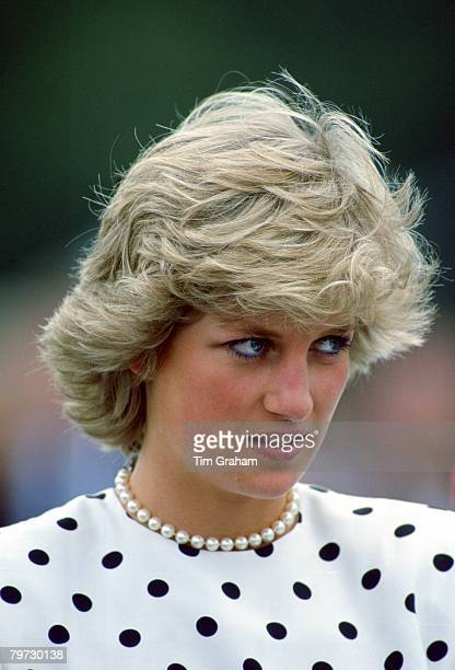 Diana, Princess of Wales at Smith's Lawn Polo Club in Windsor