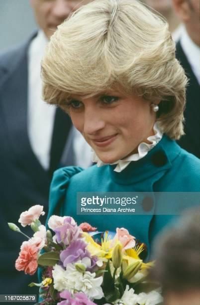 Diana Princess of Wales at St Columb Major in Cornwall May 1983