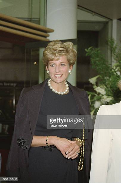 Diana Princess of Wales at the Alfred Dunhill shop in Mayfair 25th May 1994