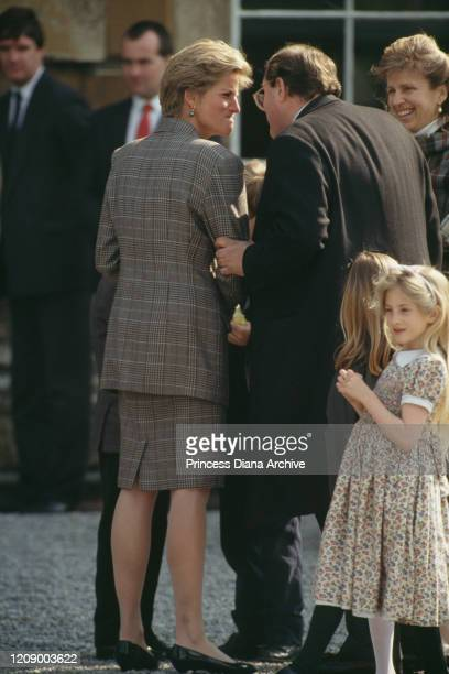 Diana Princess of Wales at the Badminton Horse Trials in Gloucestershire UK May 1991