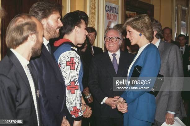 Diana, Princess of Wales at the Cafe Royal in London, during a luncheon to launch Capital Radio's Help A London Child charity appeal, 23rd March...
