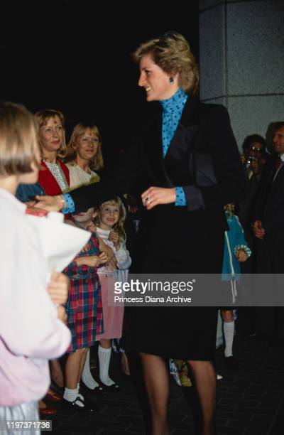 Diana Princess of Wales at the Daffodil Awards in Swansea Wales September 1989