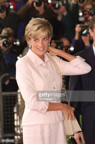 Diana Princess Of Wales At The Daily Star Gold Awards At The Savoy Hotel London
