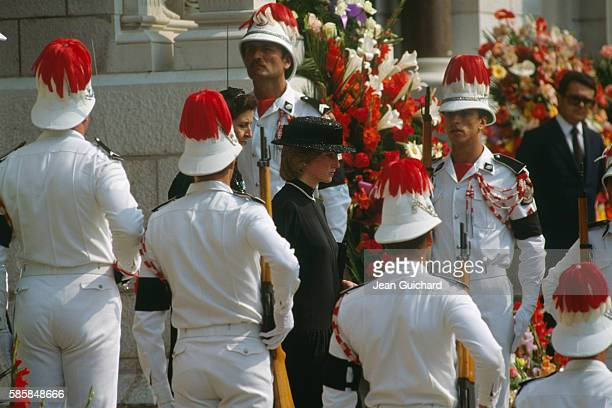 Diana Princess of Wales at the funeral of Princess Grace of Monaco