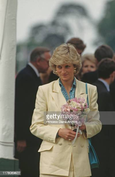 Diana, Princess of Wales at the Guards Polo Club in Windsor, UK, May 1987.