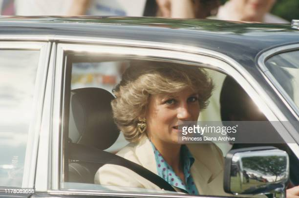 Diana Princess of Wales at the Guards Polo Club in Windsor UK May 1987