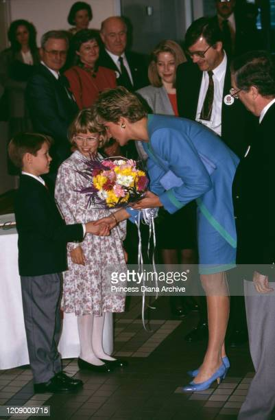 Diana Princess of Wales at the headquarters of the Red Cross in Ottawa Canada 29th October 1991