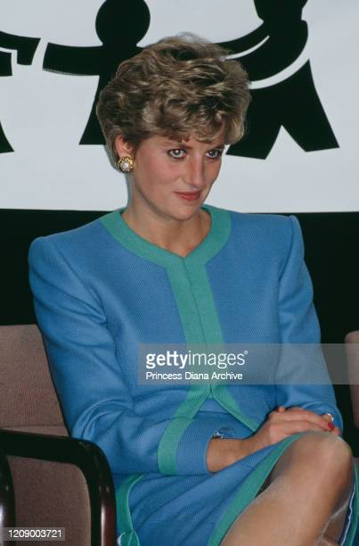 Diana, Princess of Wales at the headquarters of the Red Cross in Ottawa, Canada, 29th October 1991.