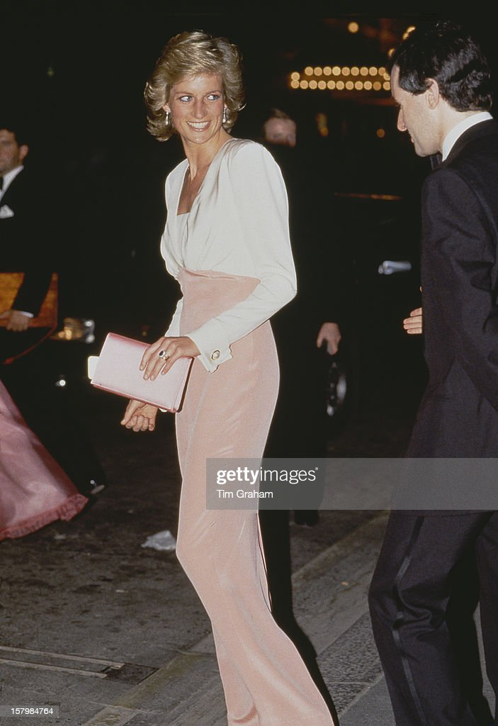 Diana Princess Of Wales At The London Coliseum For A