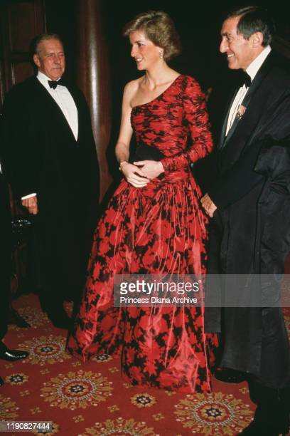 Diana, Princess of Wales at the Middle Temple in London, after being called to the Bench as an honorary barrister, 26th October 1988.