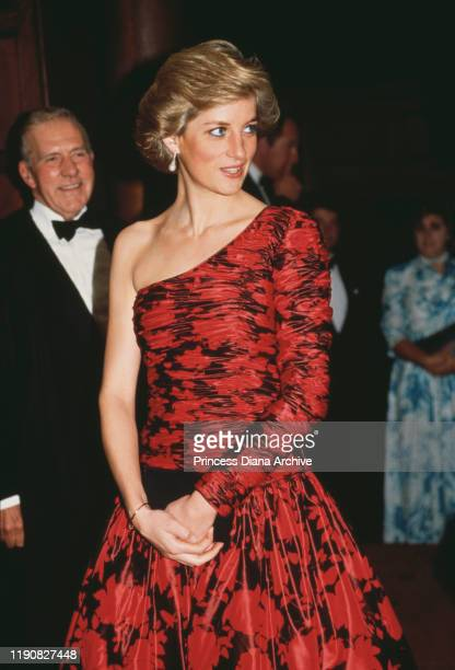 Diana Princess of Wales at the Middle Temple in London after being called to the Bench as an honorary barrister 26th October 1988