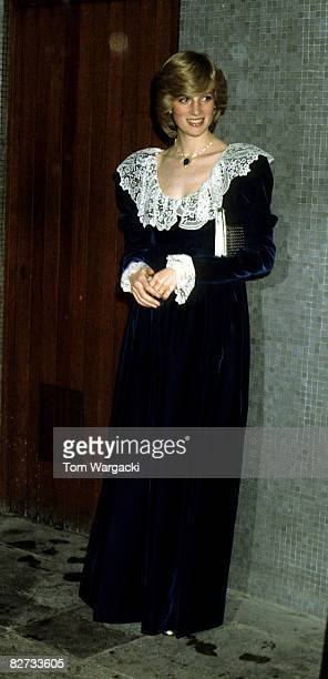 Diana Princess of Wales at the National Film Institute Dinner at the Royal Festival Hall 11 December 1981