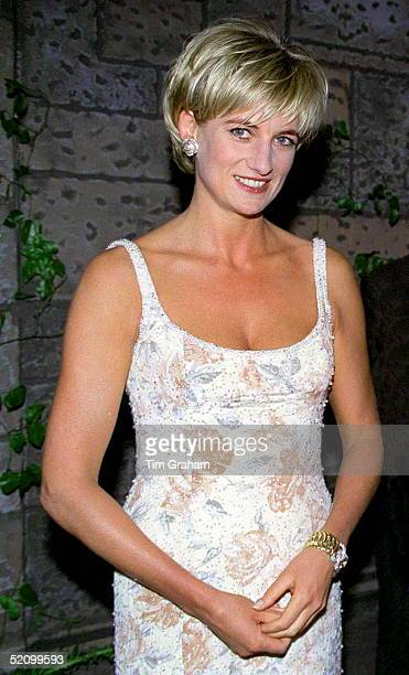 Diana Princess Of Wales At The Preauction Party At Christie's New York
