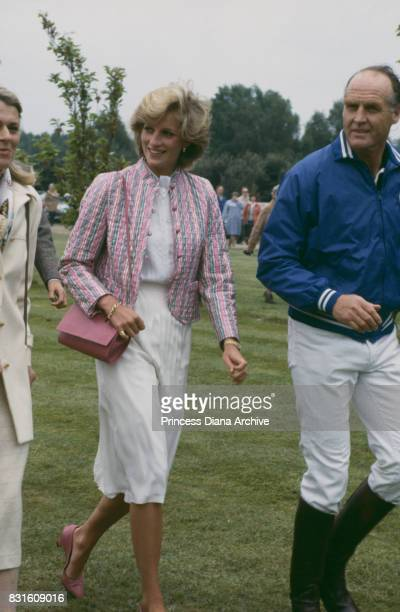Diana Princess of Wales at the Queen's Cup Polo match at Guards Polo club in Smiths Lawn Windsor England 29th May 1983