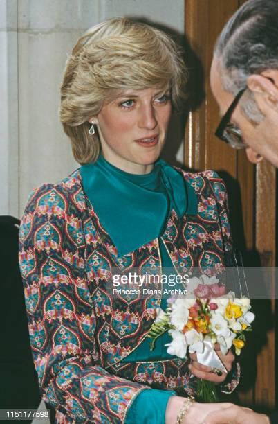 Diana Princess of Wales at the Royal Academy of Arts in London January 1983