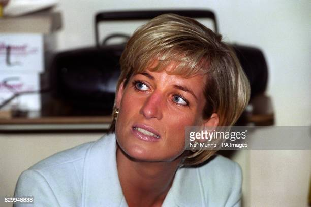 Diana Princess of Wales at the Royal Brompton Hospital during Cystic Fibrosis Week * 31/8/97 It was reported that the Princess has been injured in a...