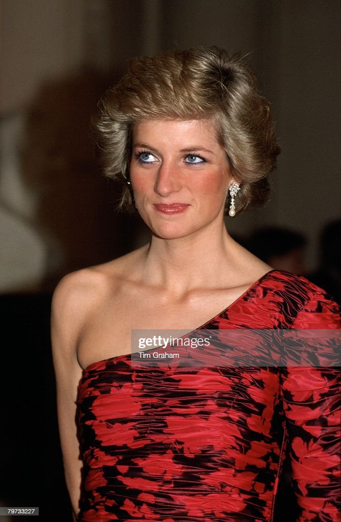 Diana, Princess of Wales attending a dinner in Paris hosted : News Photo