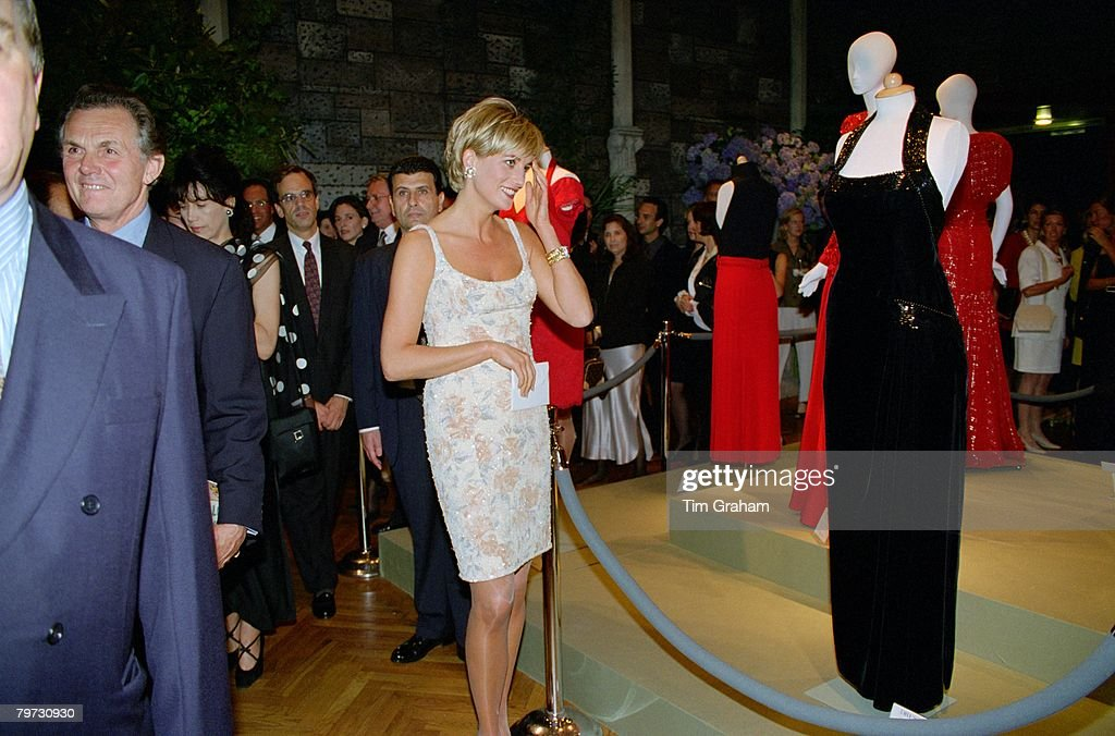 Diana, Princess of Wales attending a gala party to launch th : News Photo