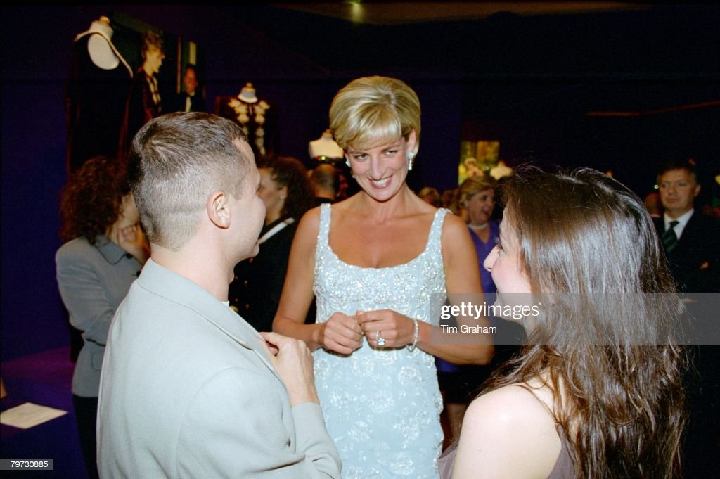 Diana, Princess of Wales, attending a private viewing of the : News Photo