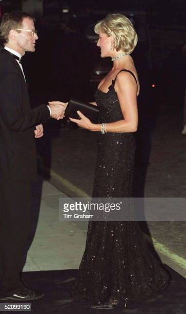 Diana, Princess Of Wales, Attending The 100th Birthday Celebration Of The Tate Gallery In London.