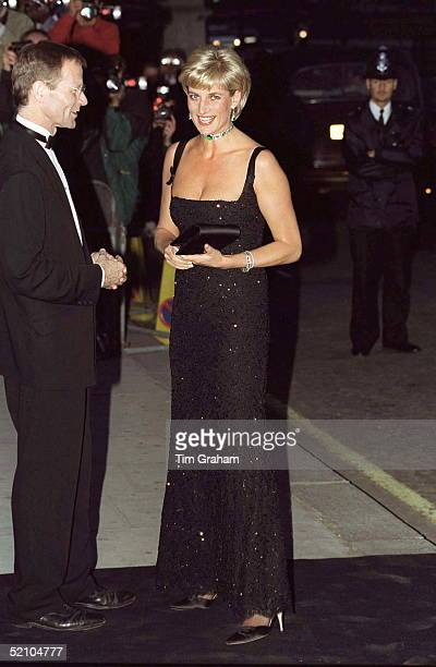 Diana Princess Of Wales Attending The 100th Birthday Celebration Of The Tate Gallery In London Dress Designed By Jacques Azagury