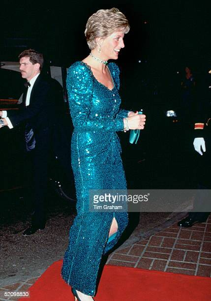 Diana Princess Of Wales Attending The Diamond Ball At The Royal Lancaster Hotel In Aid Of The Charity Sane Of Which Her Husband Is Patron The...