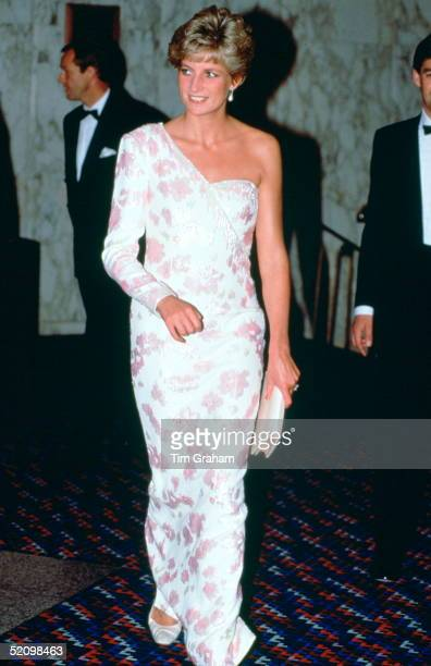 Diana Princess Of Wales Attending The Film Premiere At The Empire Cinema In Leicester Square Of 'stepping Out' To Raise Funds For The Trust For Sick...