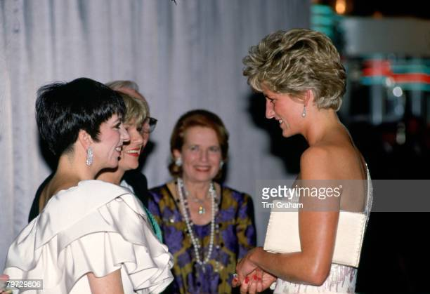 Diana Princess of Wales attending the film premiere at the Empire cinema in Leicester Square of Stepping Out to raise funds for the Trust for Sick...