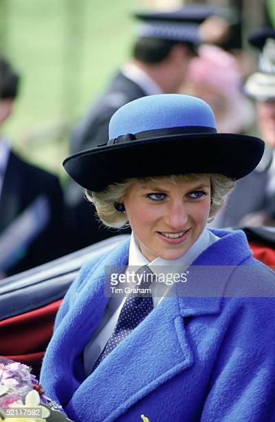 Diana Princess Of Wales Attending The Glasgow Garden Festival