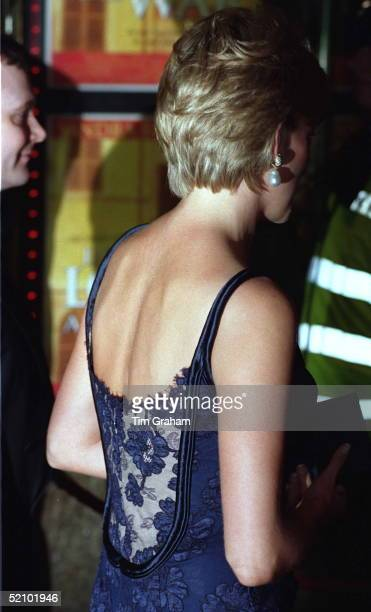 Diana Princess Of Wales Attending The Premiere Of The Film 'in Love And War' At The Empire In Leicester Square In Aid Of The British Red Cross...