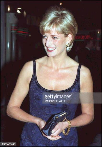 Diana, Princess of Wales, attending tonight's' premiere performance of Lord Attenborough's latest film 'In Love And War' at London's Empire in...