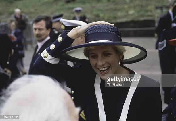 Diana Princess of Wales attends a Battle of the Atlantic service in Liverpool UK 30th May 1993