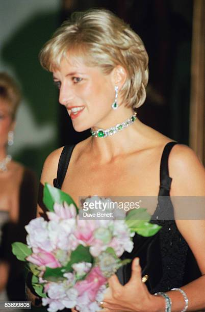 Diana Princess of Wales attends a centenary gala at the Tate Gallery in London 1st July 1997