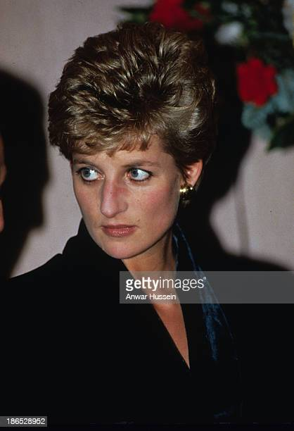 Diana Princess of Wales attends a charity lunch at the Hilton Hotel and announces her resignation from public duties on December 03 1993 in London...