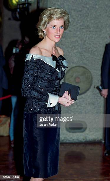 Diana Princess of Wales attends a Concert at The Barbican in London on September 29 1989 in London United Kingdom