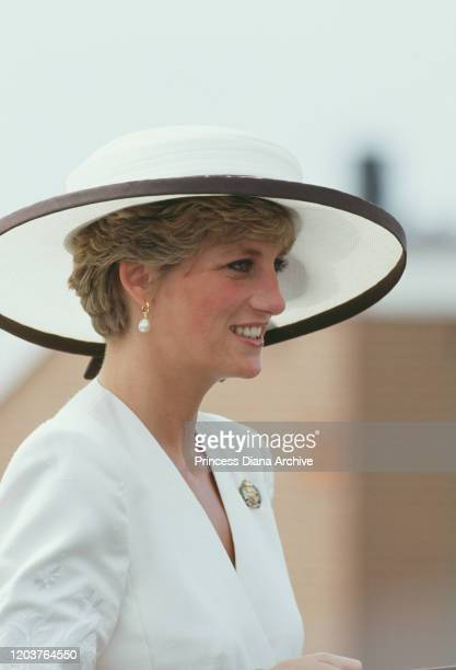 Diana, Princess of Wales attends a farewell parade for the Royal Hampshire Regiment in Portsmouth, UK, August 1991. The regiment will be amalgamated...