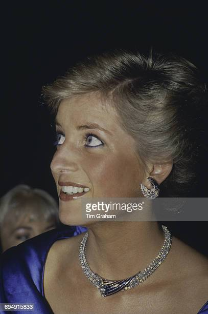 Diana Princess of Wales attends a fashion show at the Sydney Opera House Sydney Australia 31st January 1988