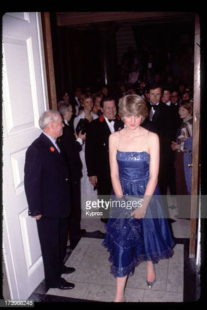 Diana, Princess of Wales attends a function, circa 1981.
