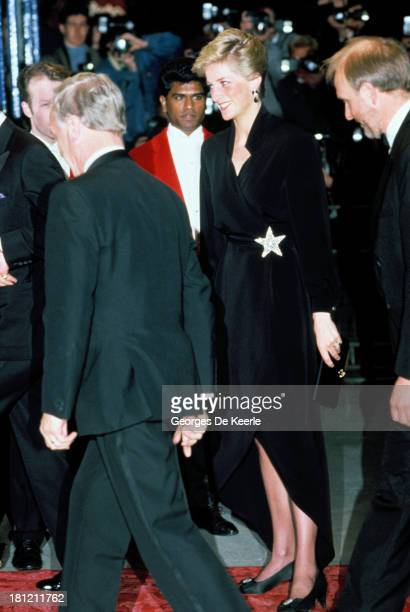 Diana Princess of Wales attends a gala in aid of The Prince's Trust on April 20 1989 in London England