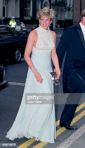 Diana Princess of Wales attends a reception at Spencer House in London on May 6 1992 in London United Kingdom
