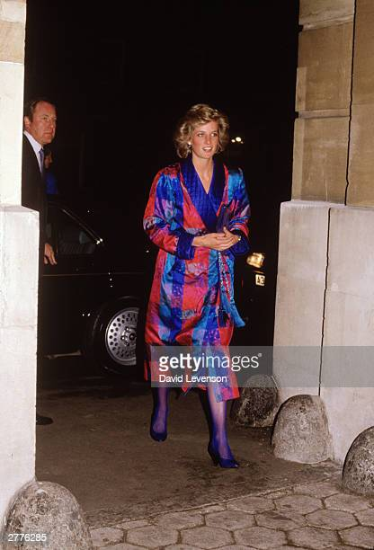 Diana Princess of Wales attends a reception for British Fashion Week at Lancaster House in London in March 1988 She wore an outfit by Bellville...