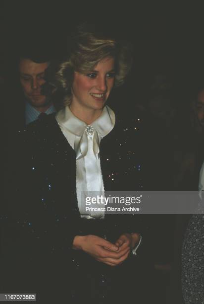 Diana, Princess of Wales attends a reception for the Pre-School Playground Association in the West End, London, November 1984.