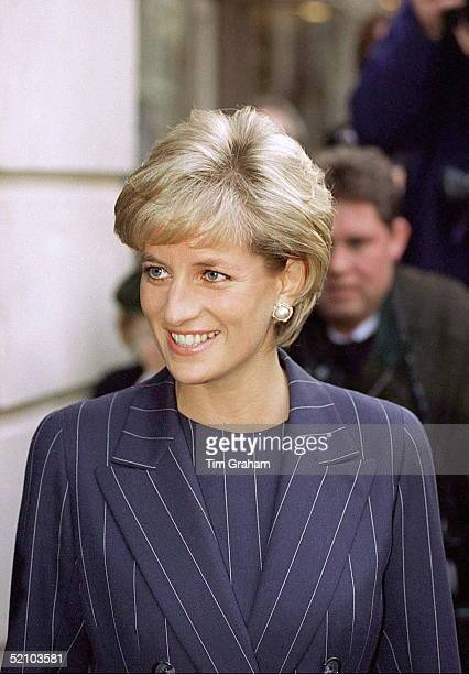 Diana Princess Of Wales Attends Centrepoint's Christmas Campaign For The Underaged At Bafta Piccadilly London